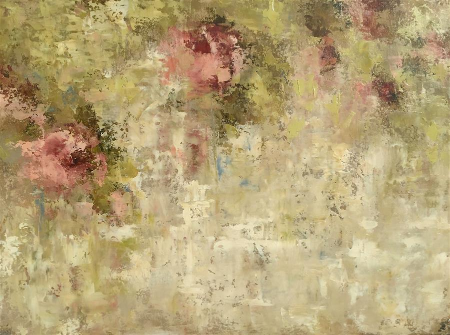 Original art for sale at UGallery.com | Pink Secrets Left by FAITH TAYLOR | $975 | Oil painting | 22' h x 30' w | ..\art\oil-painting-Pink-Secrets-Left