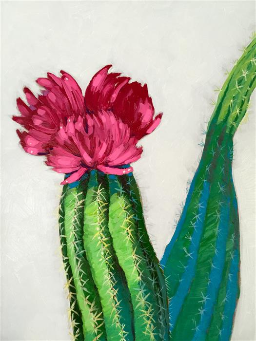 Original art for sale at UGallery.com | Flowering Cactus by NICOLE NEWSTED | $1,325 |  | 24' h x 18' w | ..\art\acrylic-painting-Flowering-Cactus