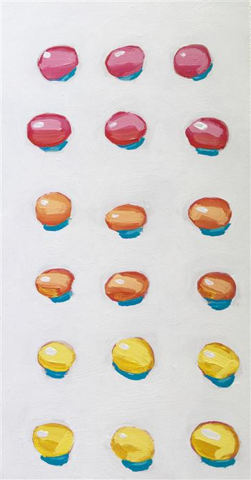 Original art for sale at UGallery.com | Candy Buttons by NICOLE NEWSTED | $675 | Acrylic painting | 15' h x 8' w | ..\art\acrylic-painting-Candy-Buttons