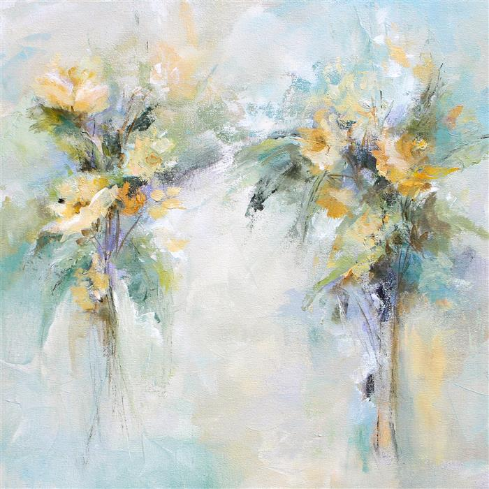 Original art for sale at UGallery.com | A Soft Approach by KAREN HALE | $1,475 |  | 24' h x 24' w | ..\art\acrylic-painting-A-Soft-Approach