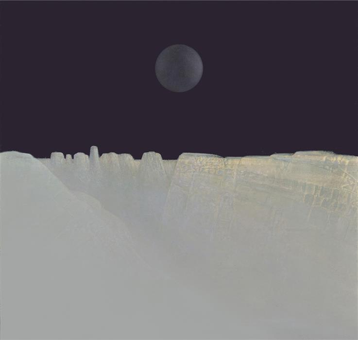 Original art for sale at UGallery.com | Moon Canyon by Shao Yuan Zhang | $900 | printmaking | 15.5' h x 15.5' w | ..\art\printmaking-Moon-Canyon