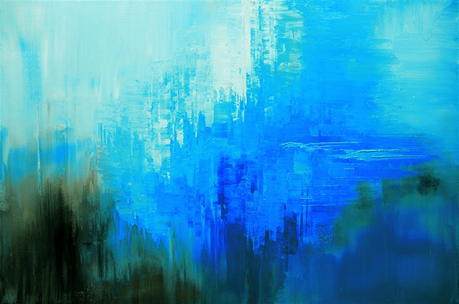 Original art for sale at UGallery.com | Bermuda Mystery by TATIANA ILIINA | $1,150 |  | 24' h x 36' w | ..\art\acrylic-painting-Bermuda-Mystery