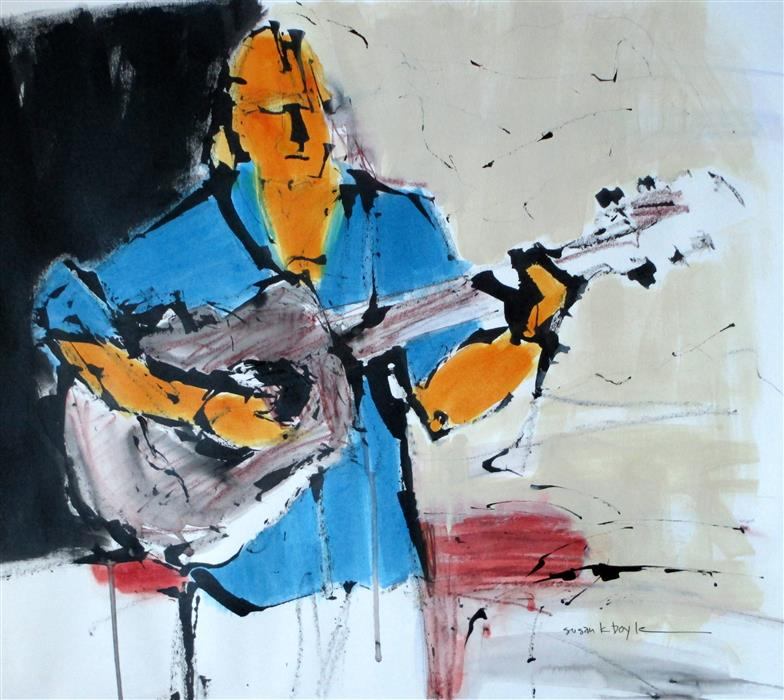Original art for sale at UGallery.com | Love Songs by SUSAN K BOYLE | $525 | Mixed media artwork | 18' h x 20.5' w | ..\art\mixed-media-artwork-Love-Songs