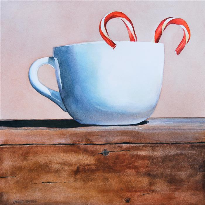 Original art for sale at UGallery.com | Peppermint Tea II by DWIGHT SMITH | $250 | Watercolor painting | 8' h x 8' w | ..\art\watercolor-painting-Peppermint-Tea-II