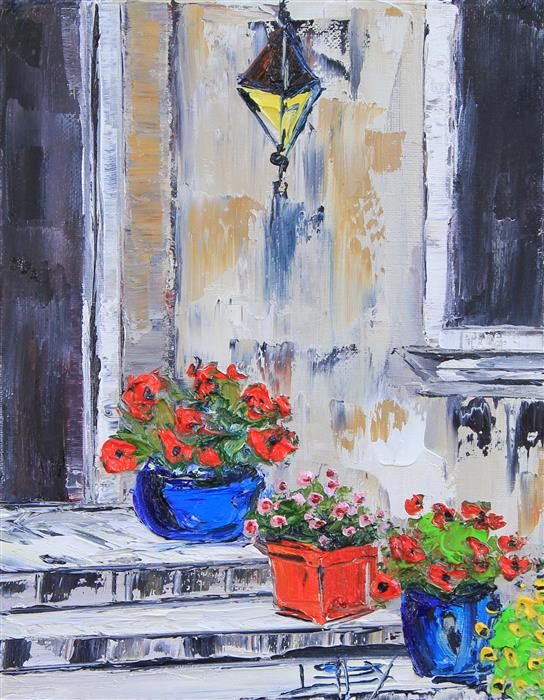 Original art for sale at UGallery.com | Iconic Italy by LISA ELLEY | $325 | Oil painting | 10' h x 8' w | ..\art\oil-painting-Iconic-Italy