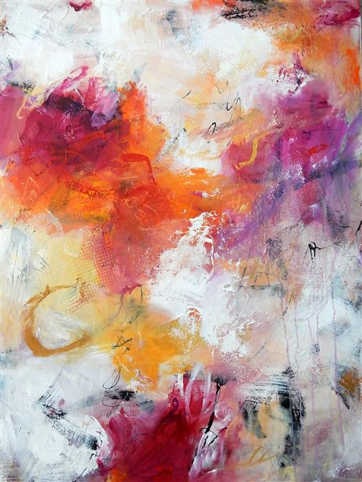 Original art for sale at UGallery.com | Sunset Dreams by HILMA KOELMAN | $2,525 | Mixed media artwork | 48' h x 36' w | ..\art\mixed-media-artwork-Sunset-Dreams