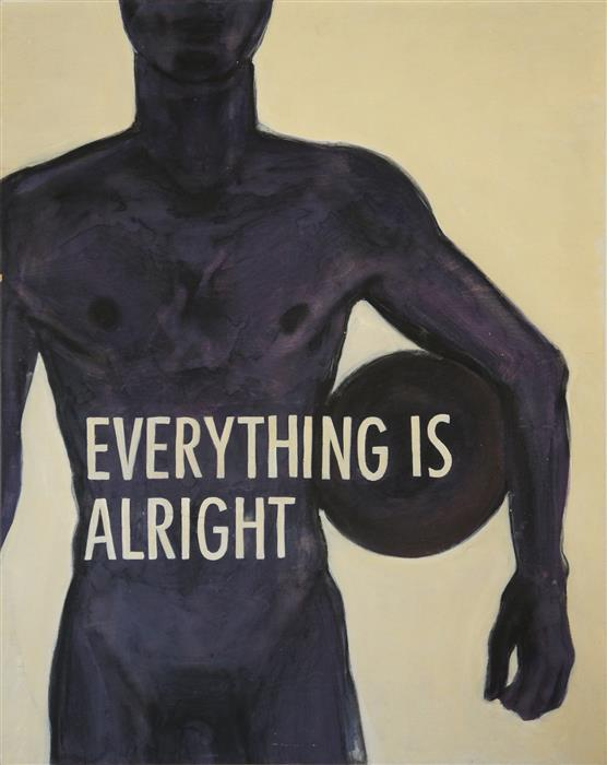 Original art for sale at UGallery.com | Everything Is Alright by MAURO CARICHINI | $1,075 |  | 30' h x 24' w | ..\art\acrylic-painting-Everything-Is-Alright