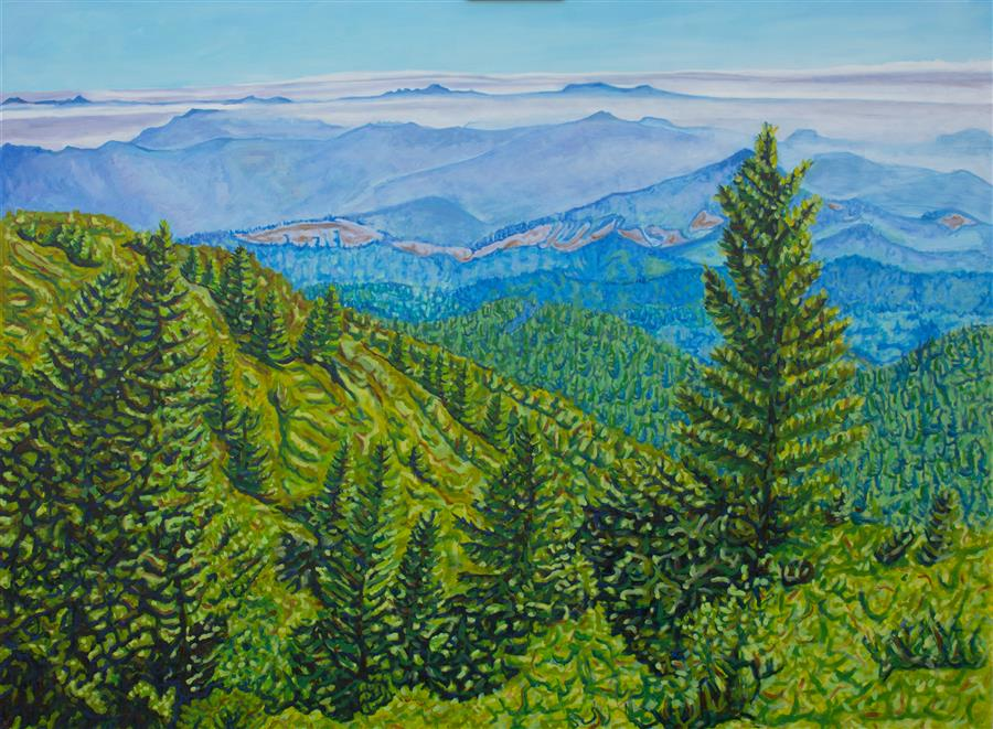 Original art for sale at UGallery.com | King Range by Crystal DiPietro | $4,400 | oil painting | 36' h x 48' w | ..\art\oil-painting-King-Range