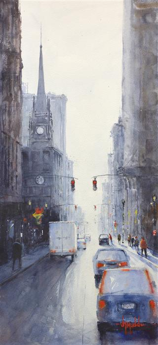Original art for sale at UGallery.com | Cathedral by JUDY MUDD | $750 |  | 22' h x 10' w | ..\art\watercolor-painting-Cathedral