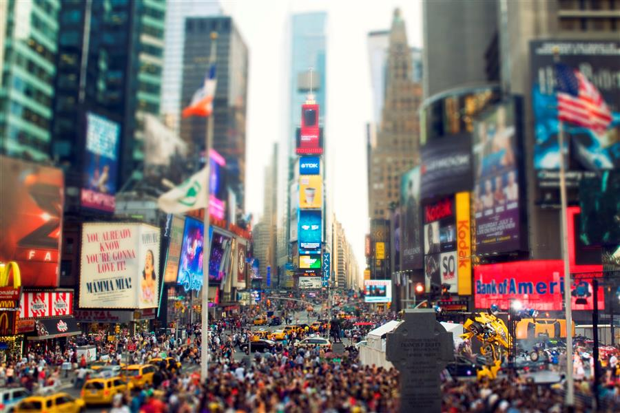 Original art for sale at UGallery.com | Times Square by Bryan Solarski | $25 | photography | 30' h x 20' w | ..\art\photography-Times-Square