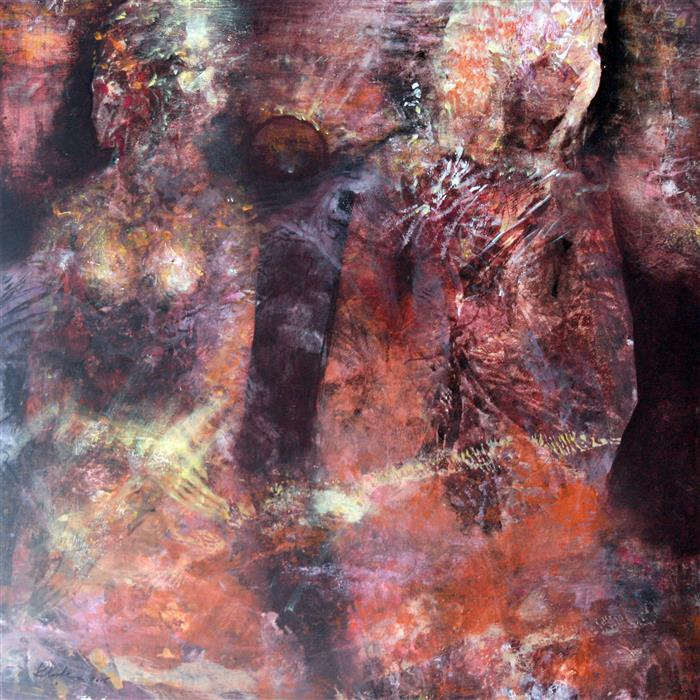 Original art for sale at UGallery.com | Ethereal Love Rust Image Dreamlike Wedding by KLOSKA OVIDIU | $1,825 |  | 32' h x 32' w | ..\art\acrylic-painting-Ethereal-Love-Rust-Image-Dreamlike-Wedding