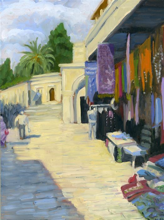 Original art for sale at UGallery.com | Jerusalem by NANCY HERMAN | $525 |  | 12' h x 9' w | ..\art\oil-painting-Jerusalem