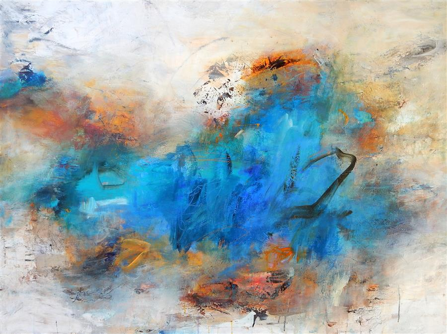 Original art for sale at UGallery.com | Fading Memories by HILMA KOELMAN | $2,475 |  | 36' h x 48' w | ..\art\acrylic-painting-Fading-Memories