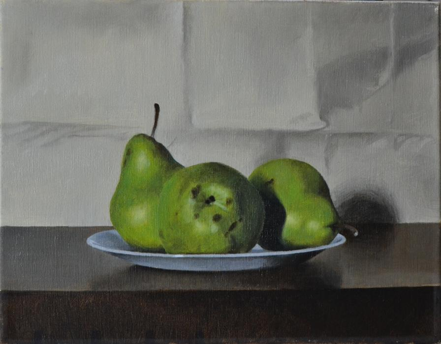 Original art for sale at UGallery.com | Pears by CHRISTOPHER GARVEY | $675 |  | 11' h x 14' w | ..\art\oil-painting-Pears-44257