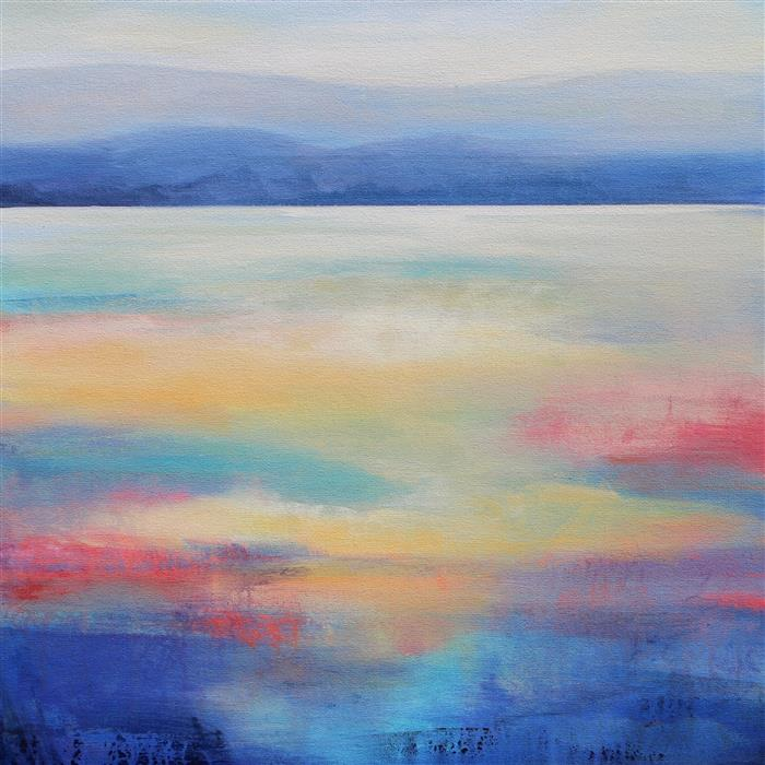 Original art for sale at UGallery.com | Mountain View by KAREN HALE | $1,425 | Acrylic painting | 24' h x 24' w | ..\art\acrylic-painting-Mountain-View