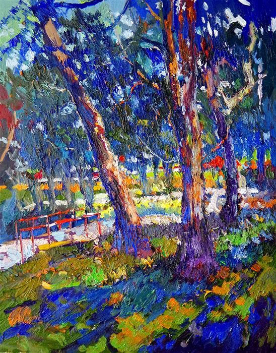 Original art for sale at UGallery.com | Under the Shade by SUREN NERSISYAN | $900 | Oil painting | 28' h x 22' w | ..\art\oil-painting-Under-the-Shade