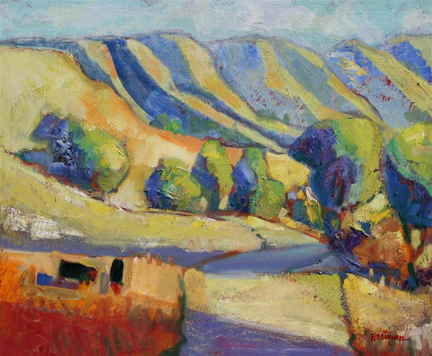Original art for sale at UGallery.com | Carmel Valley Road by JAMES HARTMAN | $800 |  | 20' h x 24' w | ..\art\oil-painting-Carmel-Valley-Road