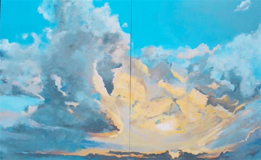 Original art for sale at UGallery.com | Sky Candy by BENJAMIN  THOMAS | $6,625 |  | 50' h x 80' w | ..\art\acrylic-painting-Sky-Candy