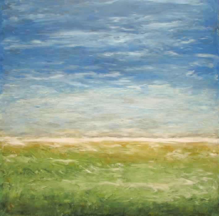 Original art for sale at UGallery.com | Summer Breeze by VALERIE BERKELY | $775 | Oil painting | 18' h x 18' w | ..\art\oil-painting-Summer-Breeze-46368