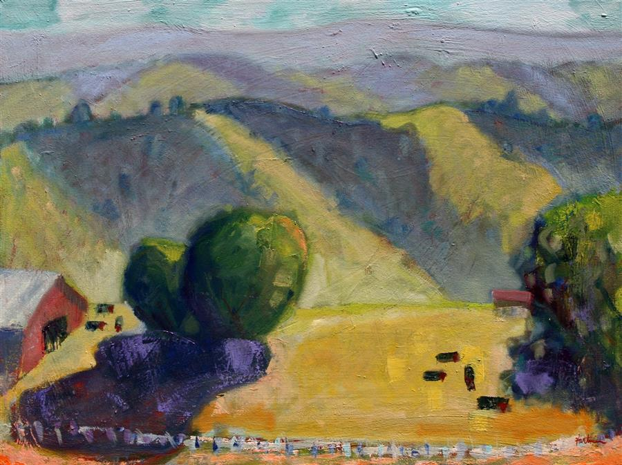 Original art for sale at UGallery.com | Mt. Diablo, 1000 Feet by JAMES HARTMAN | $2,275 | Oil painting | 30' h x 40' w | ..\art\oil-painting-Mt-Diablo-1000-Ft