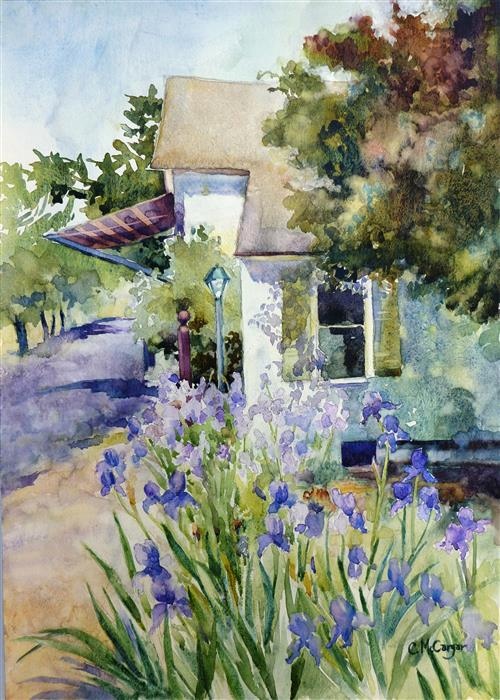 Original art for sale at UGallery.com | French Laundry by CATHERINE MCCARGAR | $850 | Watercolor painting | 20' h x 14' w | ..\art\watercolor-painting-French-Laundry