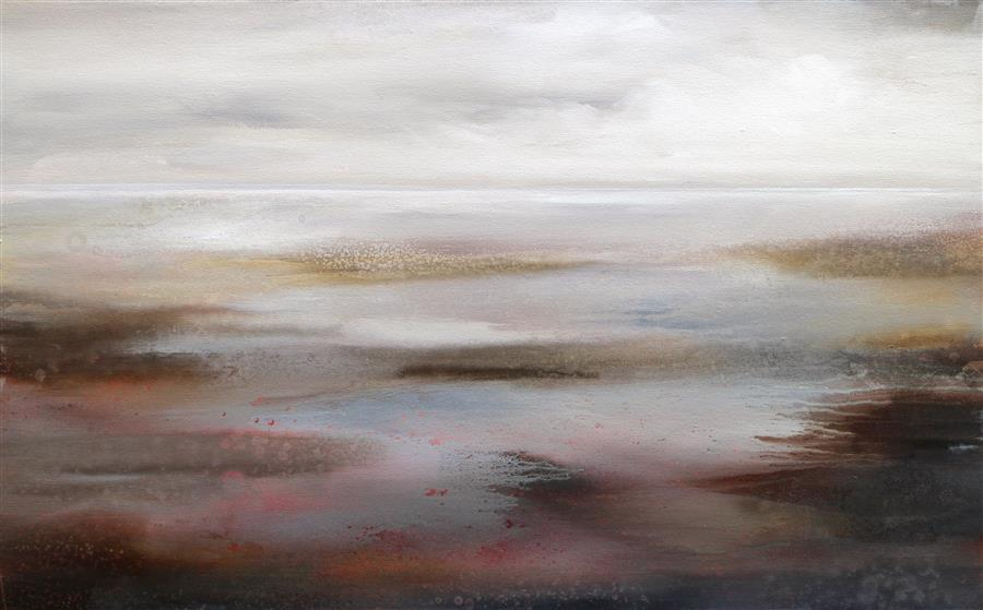 Original art for sale at UGallery.com | Serene Image by KAREN HALE | $3,475 |  | 30' h x 48' w | ..\art\acrylic-painting-Serene-Image