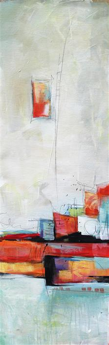 Original art for sale at UGallery.com | High Spirits II by Karen Hale | $1,175 | acrylic painting | 36' h x 12' w | ..\art\acrylic-painting-High-Spirits-II