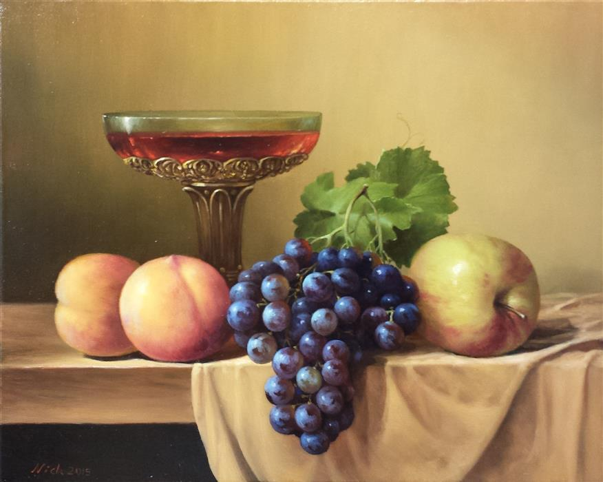 Original art for sale at UGallery.com | Fruits by NIKOLAY RIZHANKOV | $1,325 |  | 16' h x 20' w | ..\art\oil-painting-Fruits