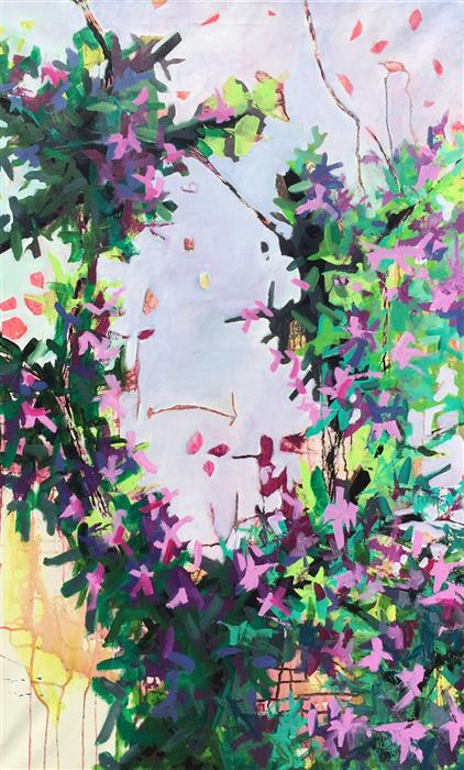 Original art for sale at UGallery.com | Redbud by BRYAN JERNIGAN | $1,450 | Acrylic painting | 48' h x 30' w | ..\art\acrylic-painting-Redbud