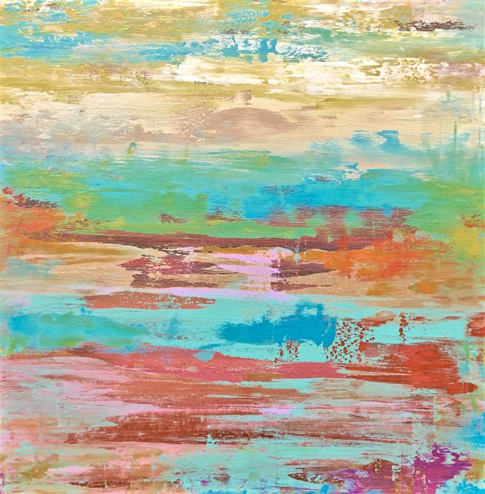 Original art for sale at UGallery.com | Bellini Sky by ALICIA DUNN | $1,525 | Acrylic painting | 30' h x 30' w | ..\art\acrylic-painting-Bellini-Sky