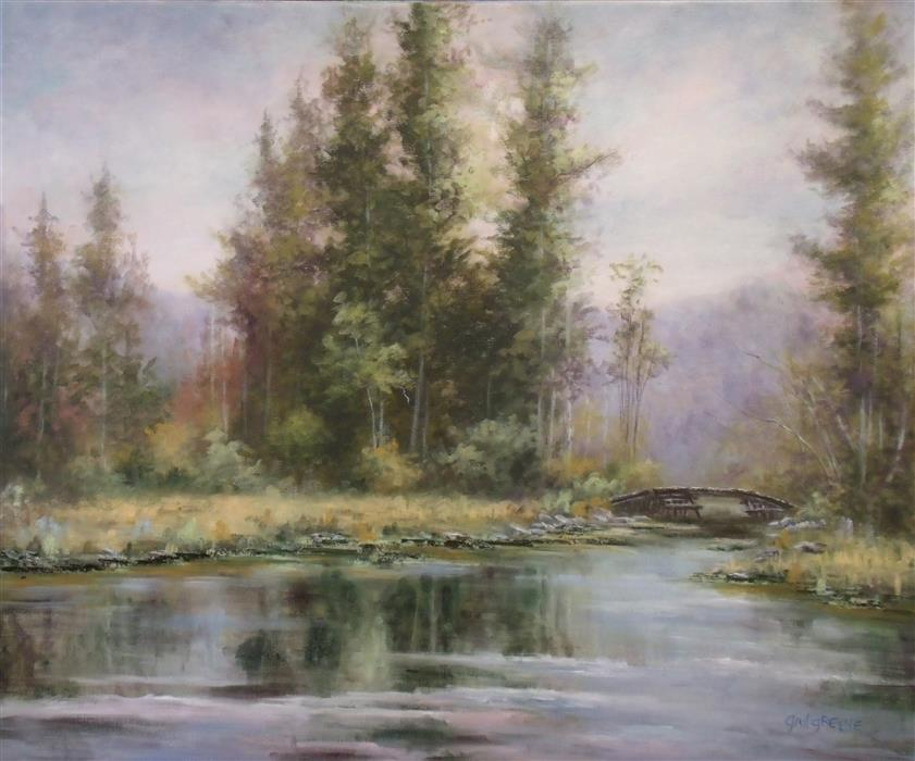 Original art for sale at UGallery.com | The Essence of the Balsam by GAIL GREENE | $850 |  | 20' h x 24' w | ..\art\oil-painting-The-Essence-of-the-Balsam