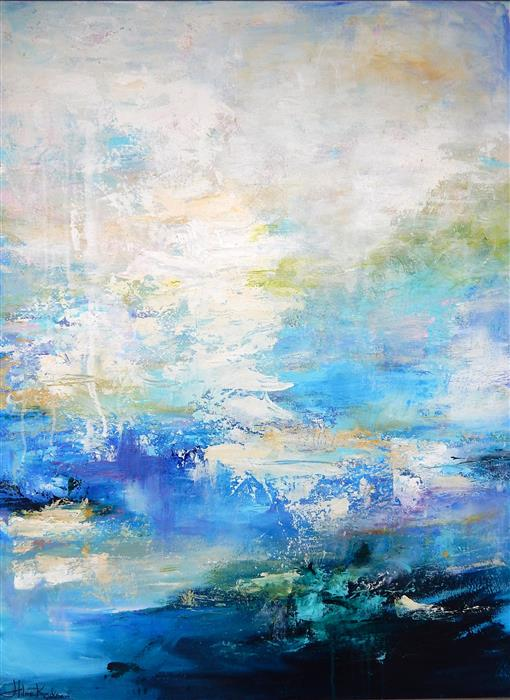 Original art for sale at UGallery.com | Ocean Mist by HILMA KOELMAN | $2,050 |  | 40' h x 30' w | ..\art\acrylic-painting-Ocean-Mist-44965