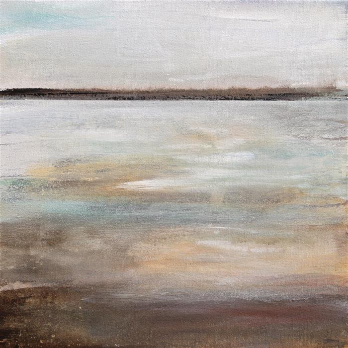 Original art for sale at UGallery.com | Shallow Water by KAREN HALE | $950 | Acrylic painting | 18' h x 18' w | ..\art\acrylic-painting-Shallow-Water-44947