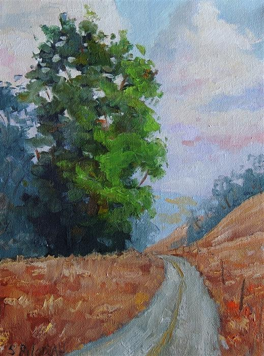 Original art for sale at UGallery.com | Eucalyptus Drive by STEVEN GUY BILODEAU | $375 | Oil painting | 12' h x 9' w | ..\art\oil-painting-Eucalyptus-Drive