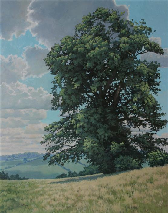 Original art for sale at UGallery.com | Oak Tree by STEFAN CONKA | $3,250 |  | 39.3' h x 31.4' w | ..\art\oil-painting-Oak-Tree