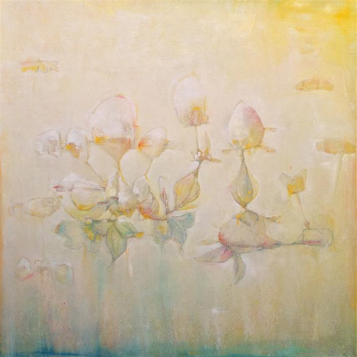 Original art for sale at UGallery.com | Sweetly, Sweetly Float by JOSHUA HOGAN | $1,575 |  | 30' h x 30' w | ..\art\oil-painting-Sweetly-Sweetly-Float
