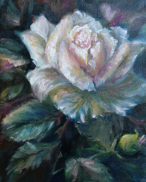 Original art for sale at UGallery.com | Summer Rose by PANDALANA WILLIAMS | $350 |  | 10' h x 8' w | ..\art\oil-painting-Summer-Rose