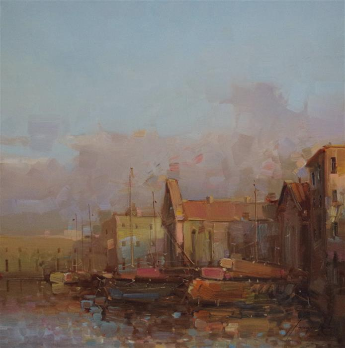 Original art for sale at UGallery.com | Santa Maria Venice by Vahe Yeremyan | $800 | oil painting | 20' h x 20' w | ..\art\oil-painting-Santa-Maria-Venice
