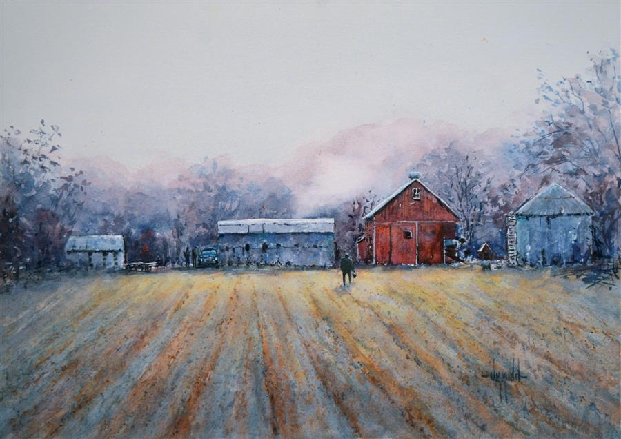 Original art for sale at UGallery.com | A New Dawn by Judy Mudd | $575 | watercolor painting | 11' h x 15' w | ..\art\watercolor-painting-A-New-Dawn