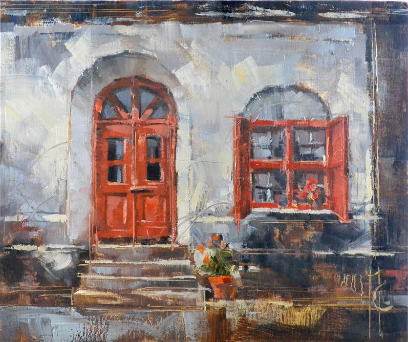 Original art for sale at UGallery.com | Doorway to the Past by GARRY COLBY | $450 | Oil painting | 11' h x 14' w | ..\art\oil-painting-Doorway-to-the-Past