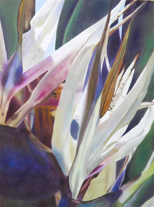 Original art for sale at UGallery.com | Bird of Paradise 2 by CATHE HENDRICK | $775 |  | 30' h x 22' w | ..\art\watercolor-painting-Bird-of-Paradise-2