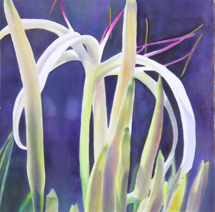 Original art for sale at UGallery.com | Swamp Lily 2 by CATHE HENDRICK | $550 |  | 22' h x 22' w | ..\art\watercolor-painting-Swamp-Lily-2