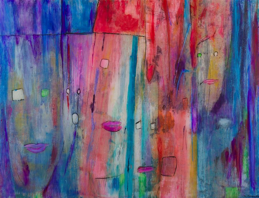 Original art for sale at UGallery.com | Going Out by JILL CONCETTA | $925 |  | 18' h x 24' w | ..\art\mixed-media-artwork-Going-Out