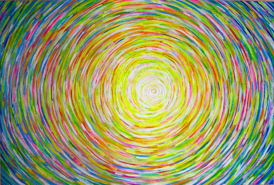 Original art for sale at UGallery.com | Sun 3 by NATASHA TAYLES | $1,000 |  | 24' h x 36' w | ..\art\acrylic-painting-Sun-3