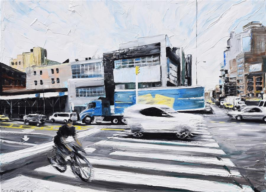 Original art for sale at UGallery.com | On the Road by PIERO MANRIQUE | $2,000 |  | 30' h x 40' w | ..\art\oil-painting-On-the-Road