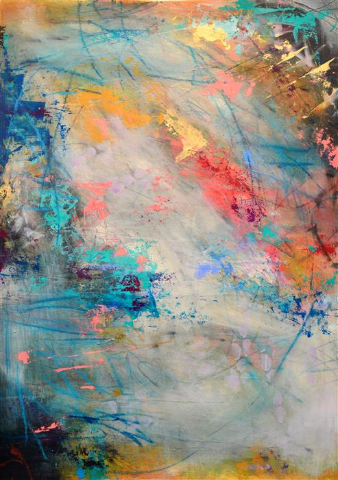 Original art for sale at UGallery.com | Coral Sea by DL WATSON | $625 | Acrylic painting | 29' h x 21' w | ..\art\acrylic-painting-Coral-Sea