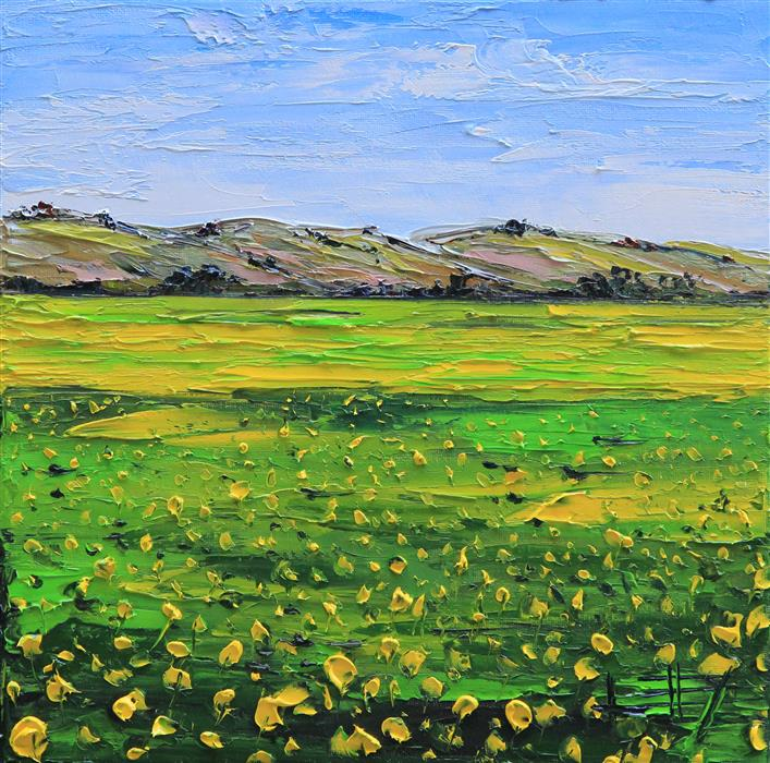 Original art for sale at UGallery.com | California Countryside by LISA ELLEY | $375 | Oil painting | 12' h x 12' w | ..\art\oil-painting-California-Countryside