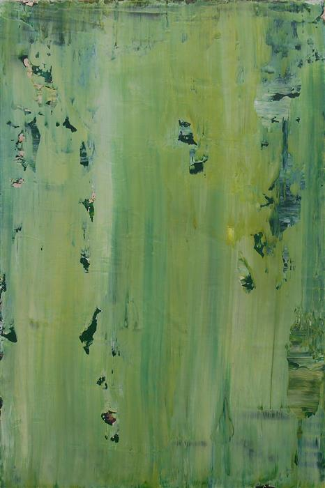 Original art for sale at UGallery.com | Corroding Moss by LISA CARNEY | $350 | Acrylic painting | 18' h x 12' w | ..\art\acrylic-painting-Corroding-Moss