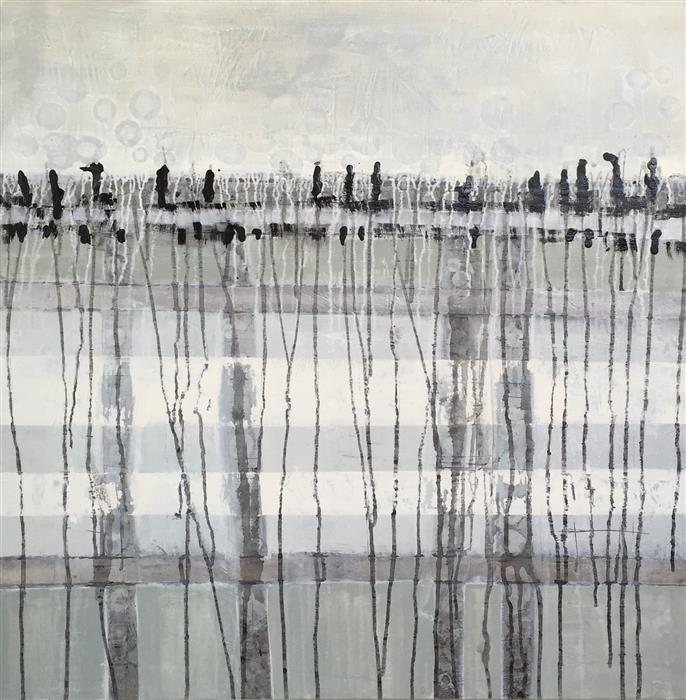 Original art for sale at UGallery.com | Great Marsh by PAT FORBES | $1,575 |  | 36' h x 36' w | ..\art\acrylic-painting-Great-Marsh
