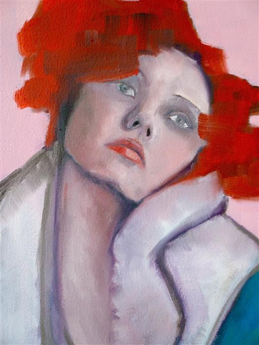 Original art for sale at UGallery.com | Drama Queen by JENNY HAMBLETON | $650 |  | 14' h x 11' w | ..\art\oil-painting-Drama-Queen